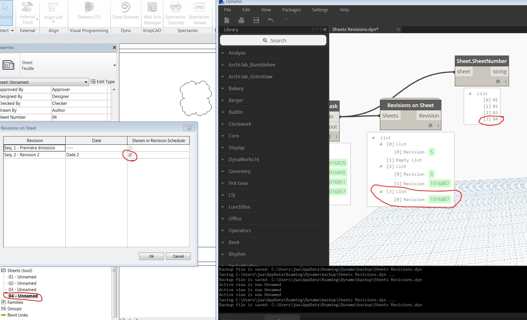 revisions on sheet w/ dynamo | archi-lab